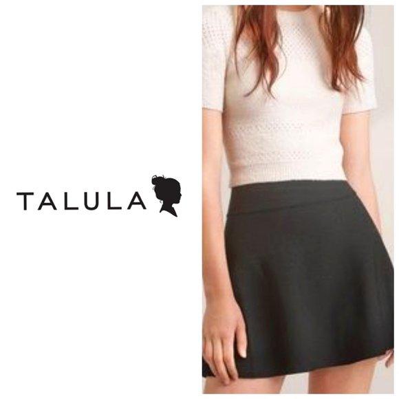 ARITZIA TALULA 100% Cotton Grey Knit Skater Skirt